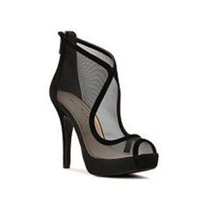 Anne Michelle Verdict-81 Black Mesh High Heels